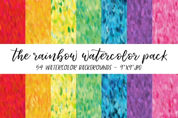 Rainbow Watercolor Backgrounds