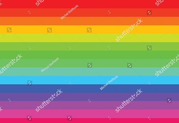 Rainbow Lines Colorful Background Illustration