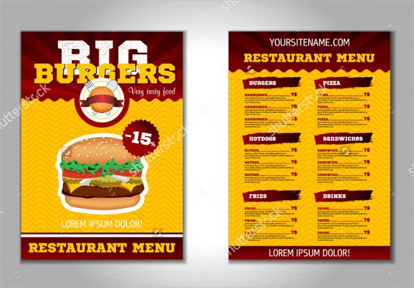 Restaurant & Burger Flyer Template