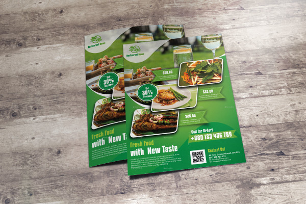 Restaurant Business Promotion Flyer Template