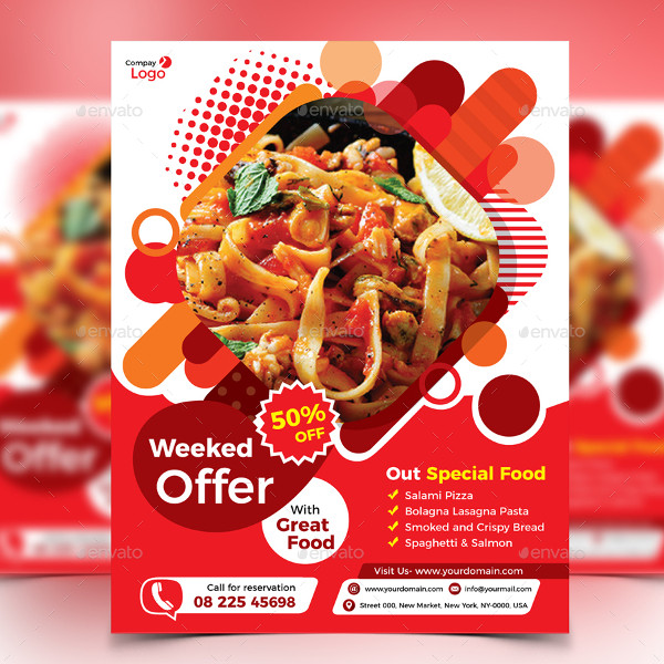 Restaurant Weekend Offer Flyer