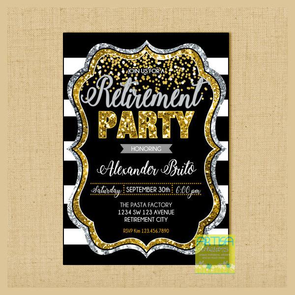 Retirement Party Celebration Invitation Design