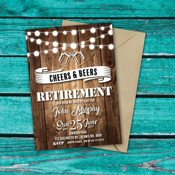 Rustic Retirement Invitation Template