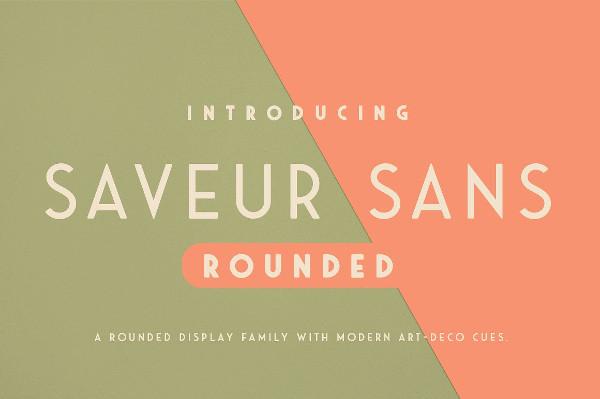 Saveur Sans Rounded Fonts