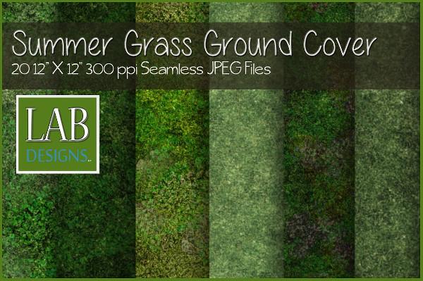 Seamless Summer Grass Ground Texture