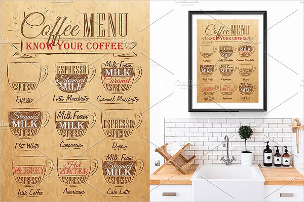 Set of Coffee Menu Posters