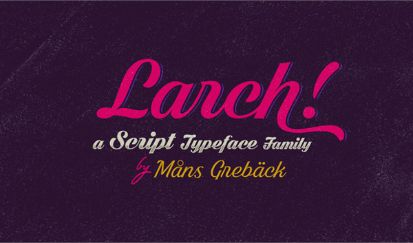 Shaded Larch Rounded Font Free