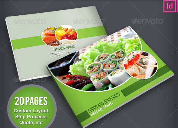 Simple Food Products Brochure Template