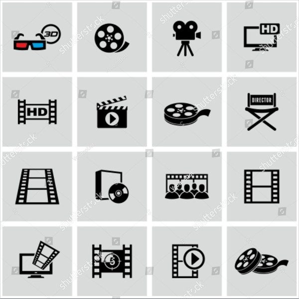 Simple Movies Icon Set