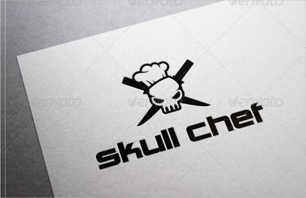 Skull Chef Logo Template