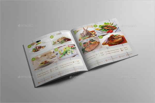Square Food Menu Brochure Design