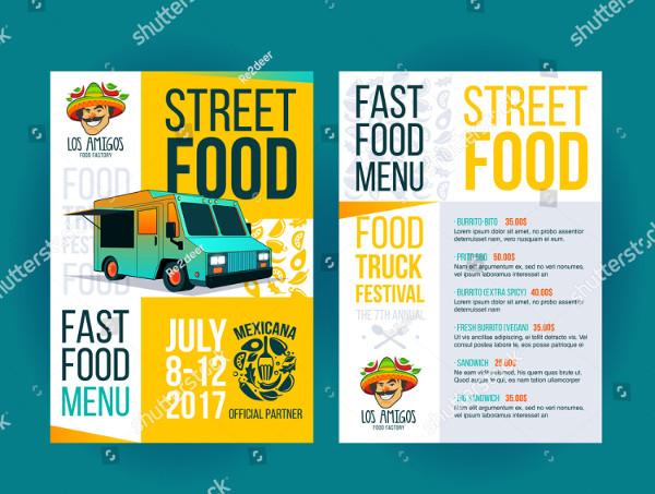 Street Food Festival Brochure Template