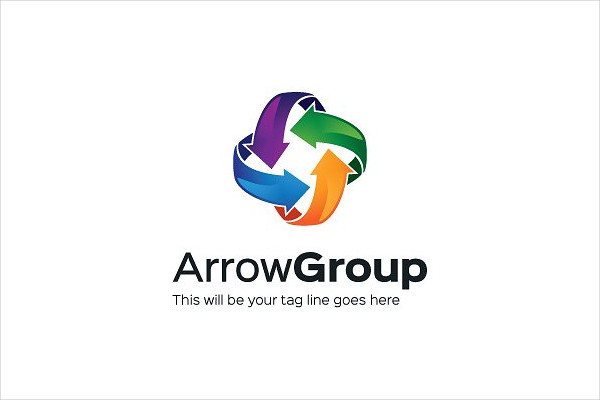 Stylish Arrow Group Logo Design