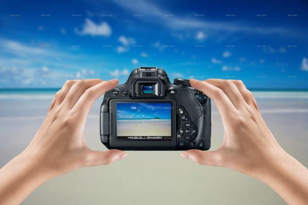 Stylish DSLR Camera Mock-Ups