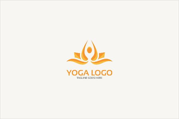 Stylish Yoga Class Logo Template