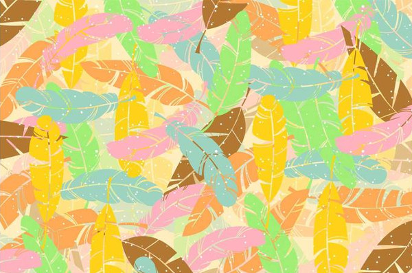 Summer Feather Pattern Free Download
