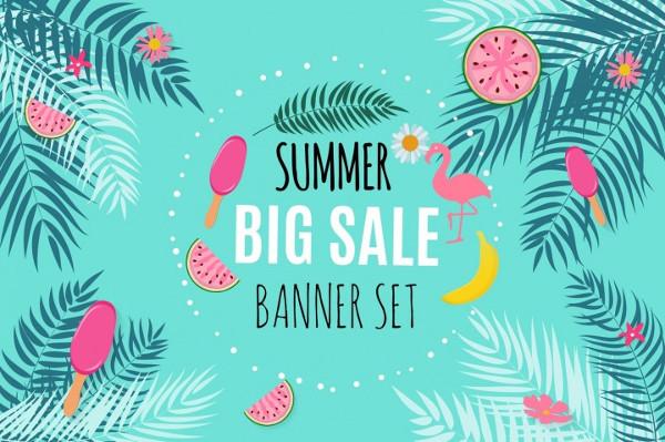 Summer Sale Abstract Banner Background Design