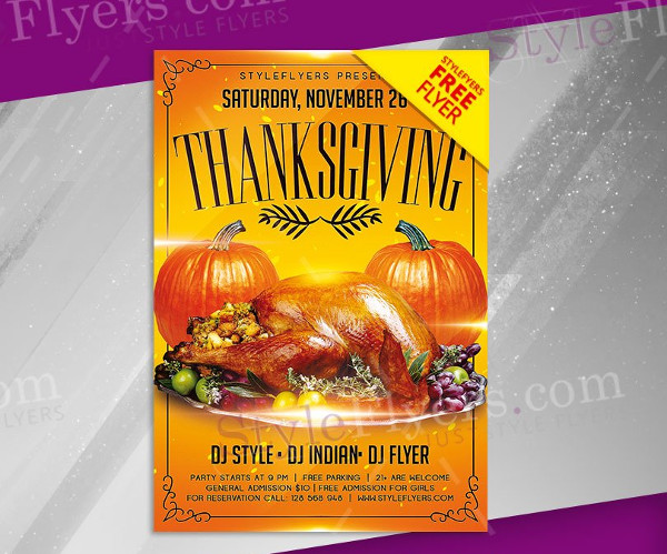 Thanksgiving Free PSD Flyer Template