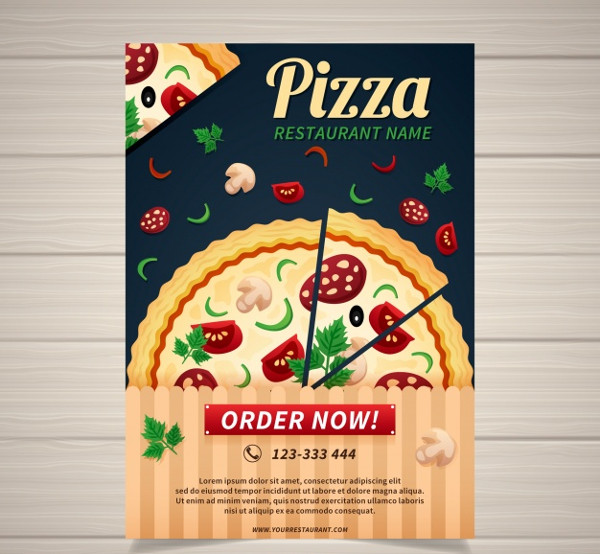 Free Download Traditional Pizza Restaurant Poster