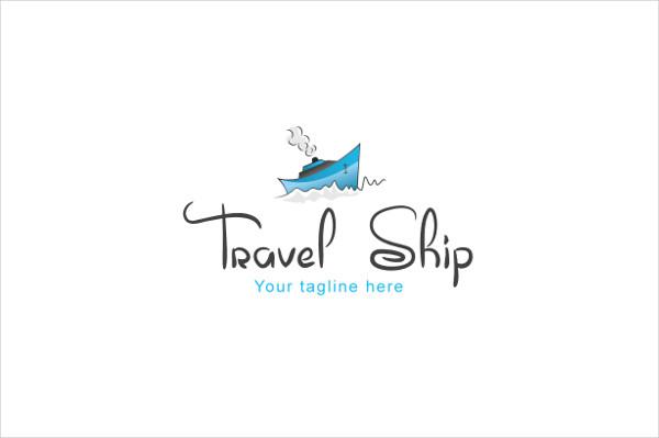 Travel Ship Overseas Touring Logo Template