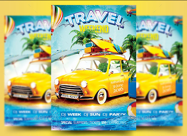 Travel Weekend Party Flyer Template