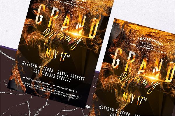 Trendy Grand Opening Event Flyer Design