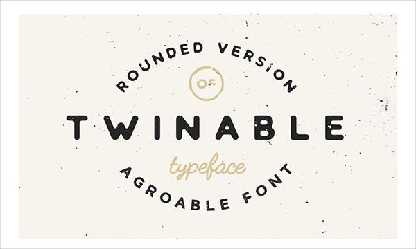 Twinable Rounded Retro Font