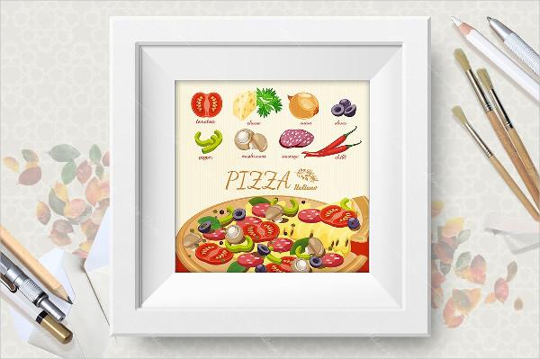 Attractive Pizza Poster Design
