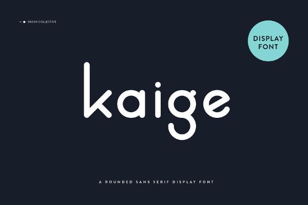 Unique Kaige Rounded Font