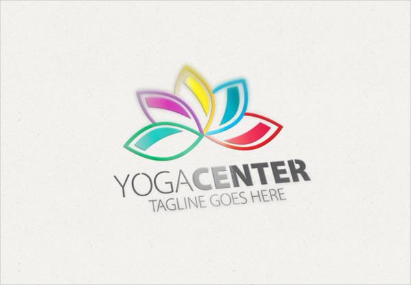 Unique Yoga Center Logo Design