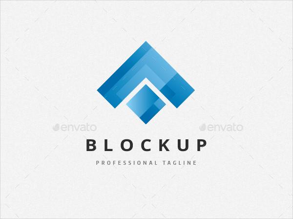 Upside Box Arrow Logo Template
