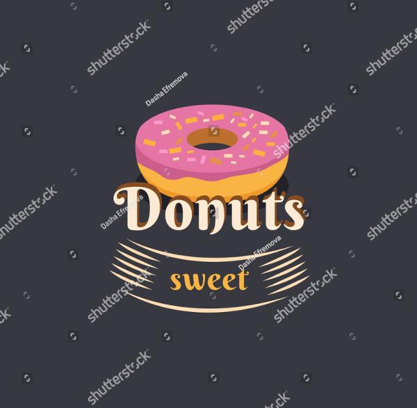 Vintage Donut Logo Template Vector