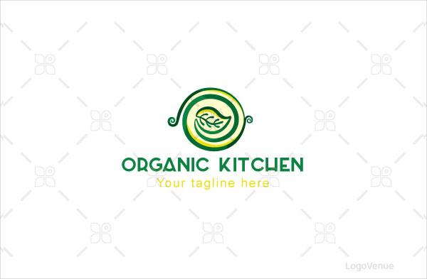 Vegetarian Food Stock Logo Template