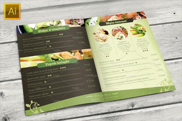 Vegetarian Restaurant Food Brochure Template