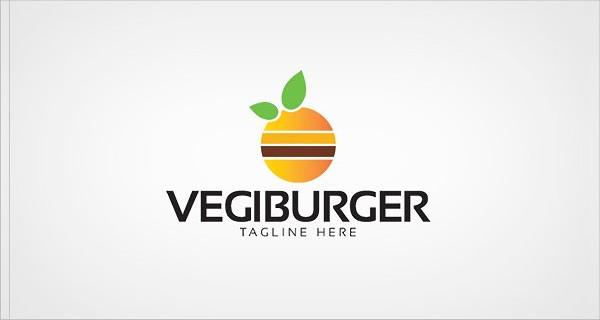 Vegi Burger Vector Logo Template