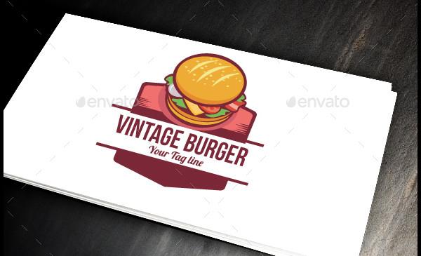 Vintage Burger Logo Design