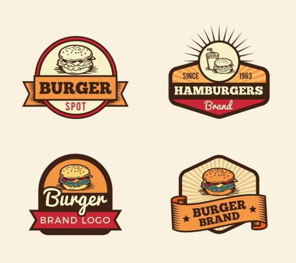 Vintage Burger Logos Collection Free