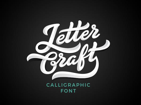 Vintage Letter Craft Font