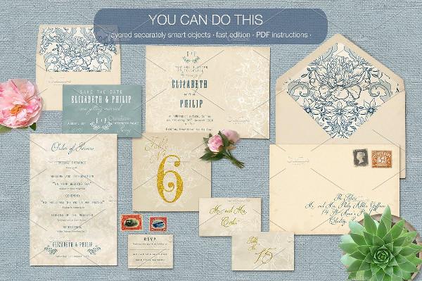 Vintage Wedding Stationery Mock-Up