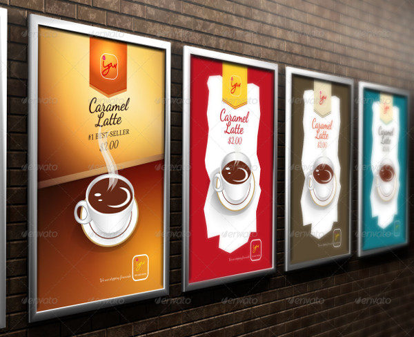 Wall Hanging Drink Menu Posters