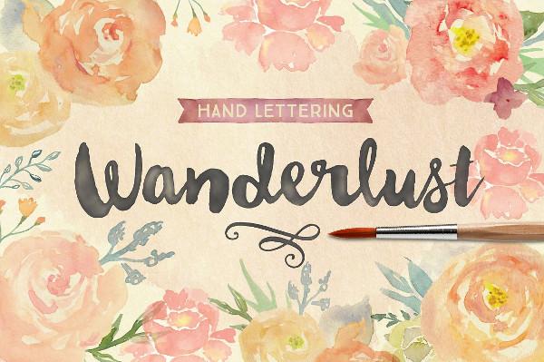Wanderlust Letters Script Font