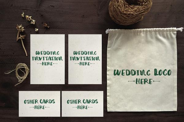 Wedding Invitation Mockups PSD