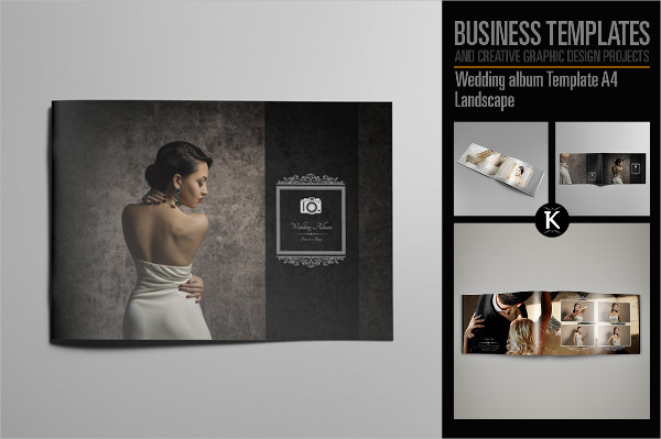Wedding Album Template A4 Landscape