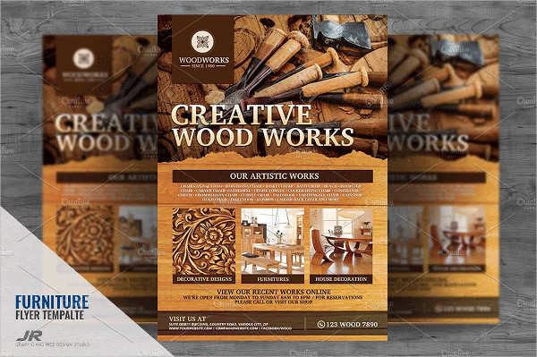 Wood Works and Wood Craft Flyer Template