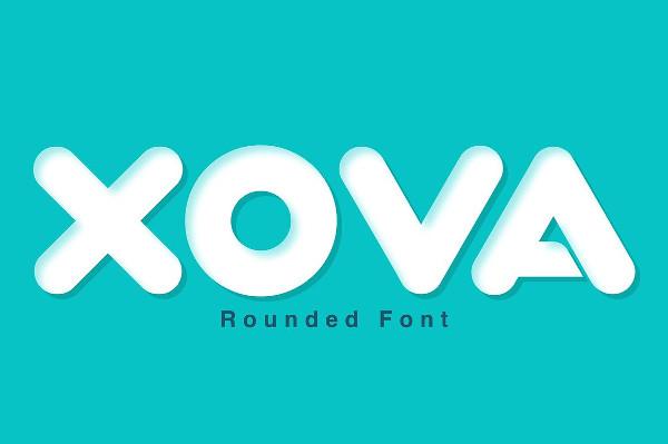 Xova Geometric Rounded Fonts