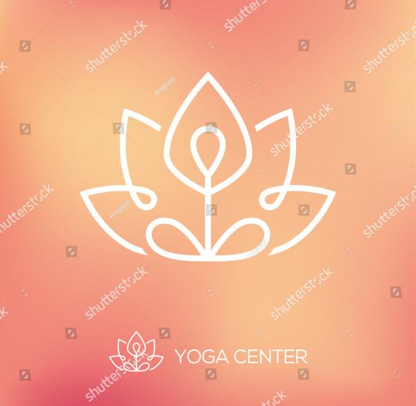 Yoga Outline Logo Design