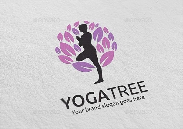 Yoga Tree Logo Template