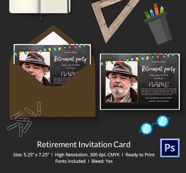 Funny Retirement Invitation Template