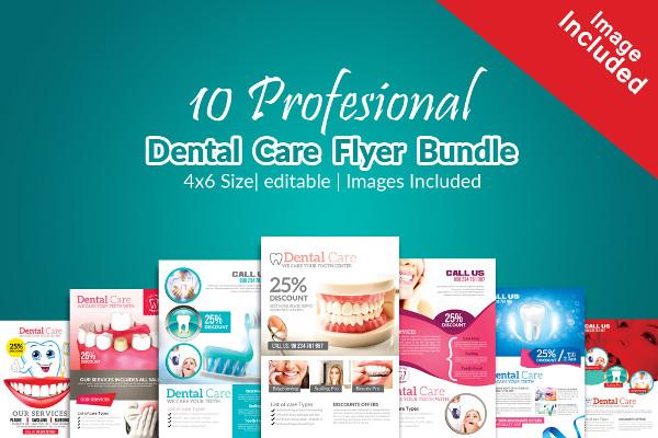 10 Medical Dental Flyers Bundle