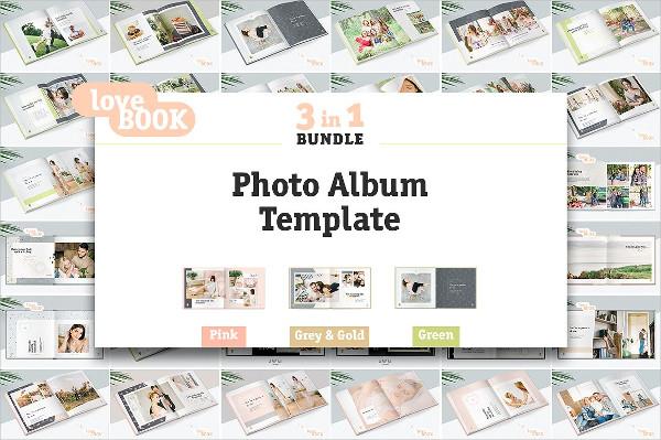 3 in 1 Photo Album Templates Bundle